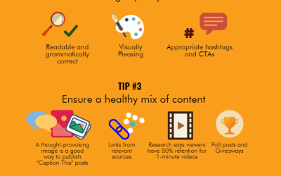 Tips to Increase your Brand's Engagement on Social Media Infographic
