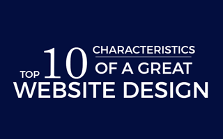 Top 10 Characteristics of a Great Website Design Infographic