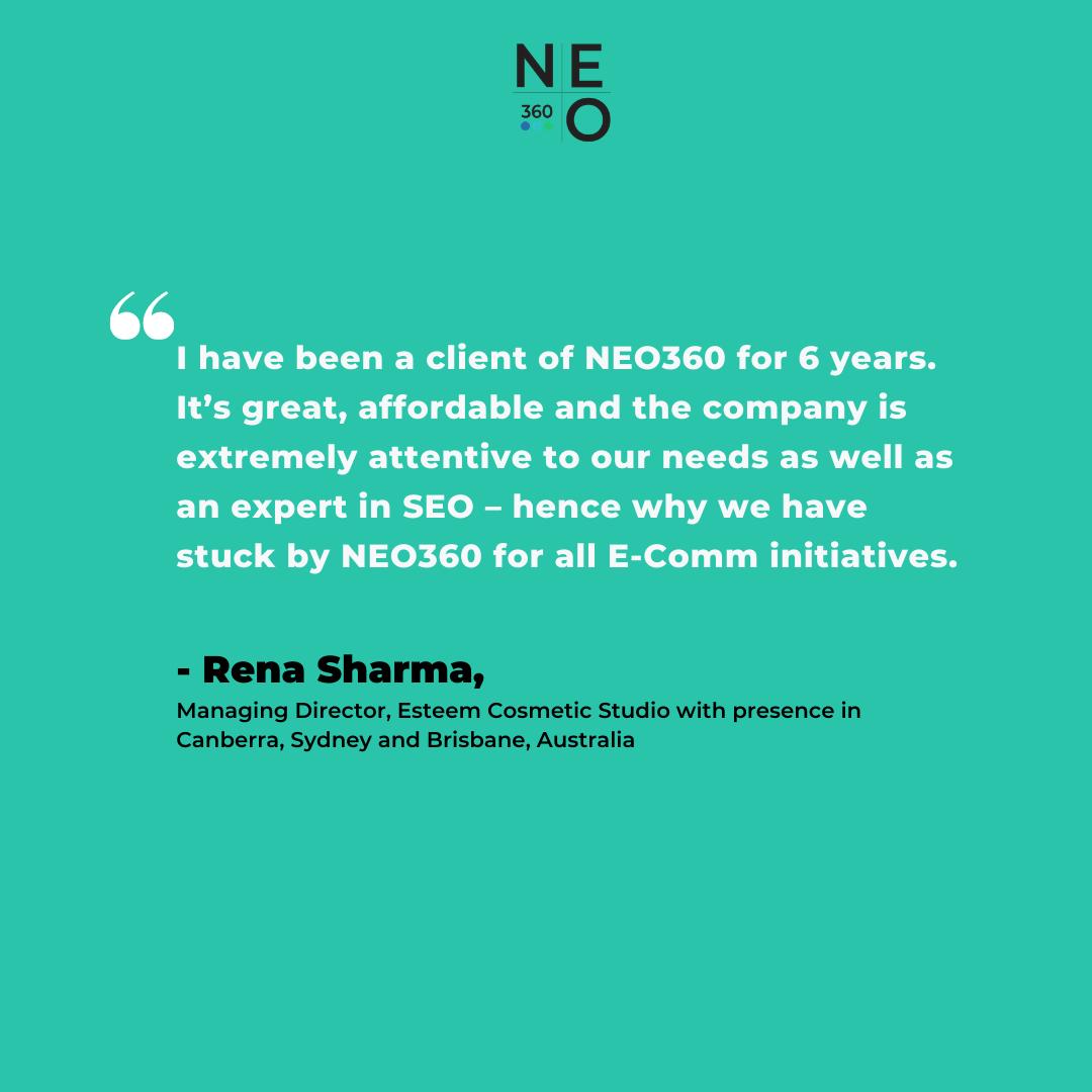 Client Testimonial Neo360 Seo