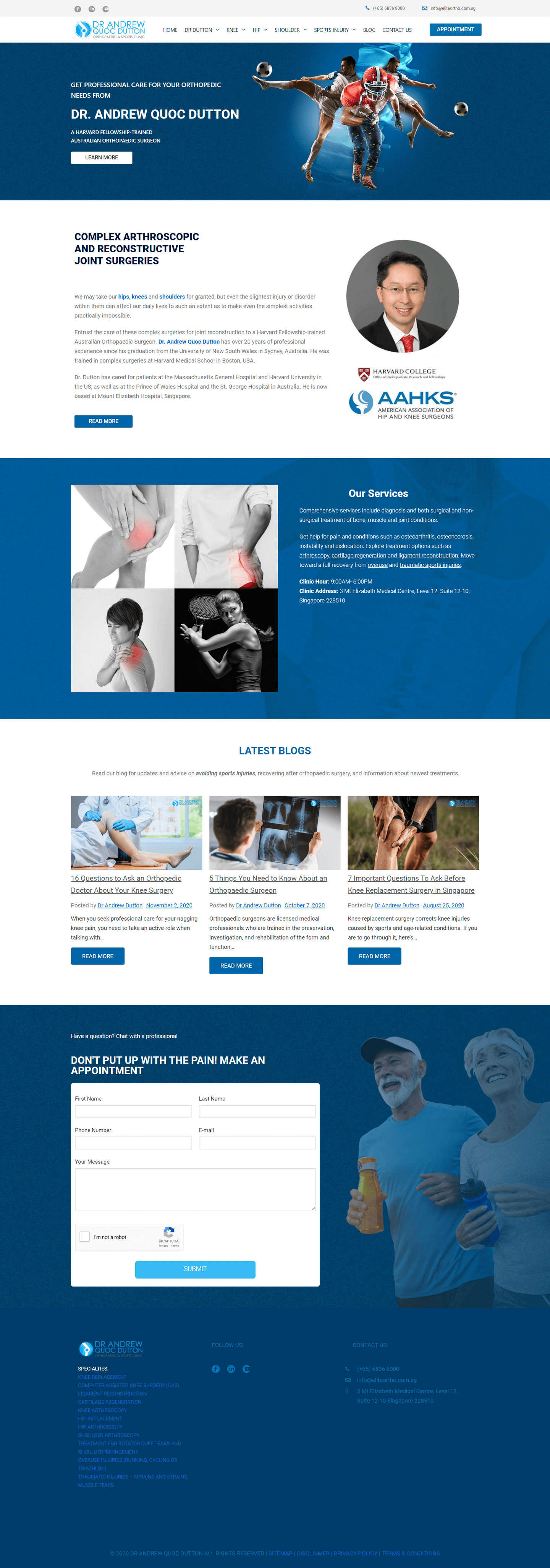 Dr Andrew Dutton Orthopaedic & Sports Clinic