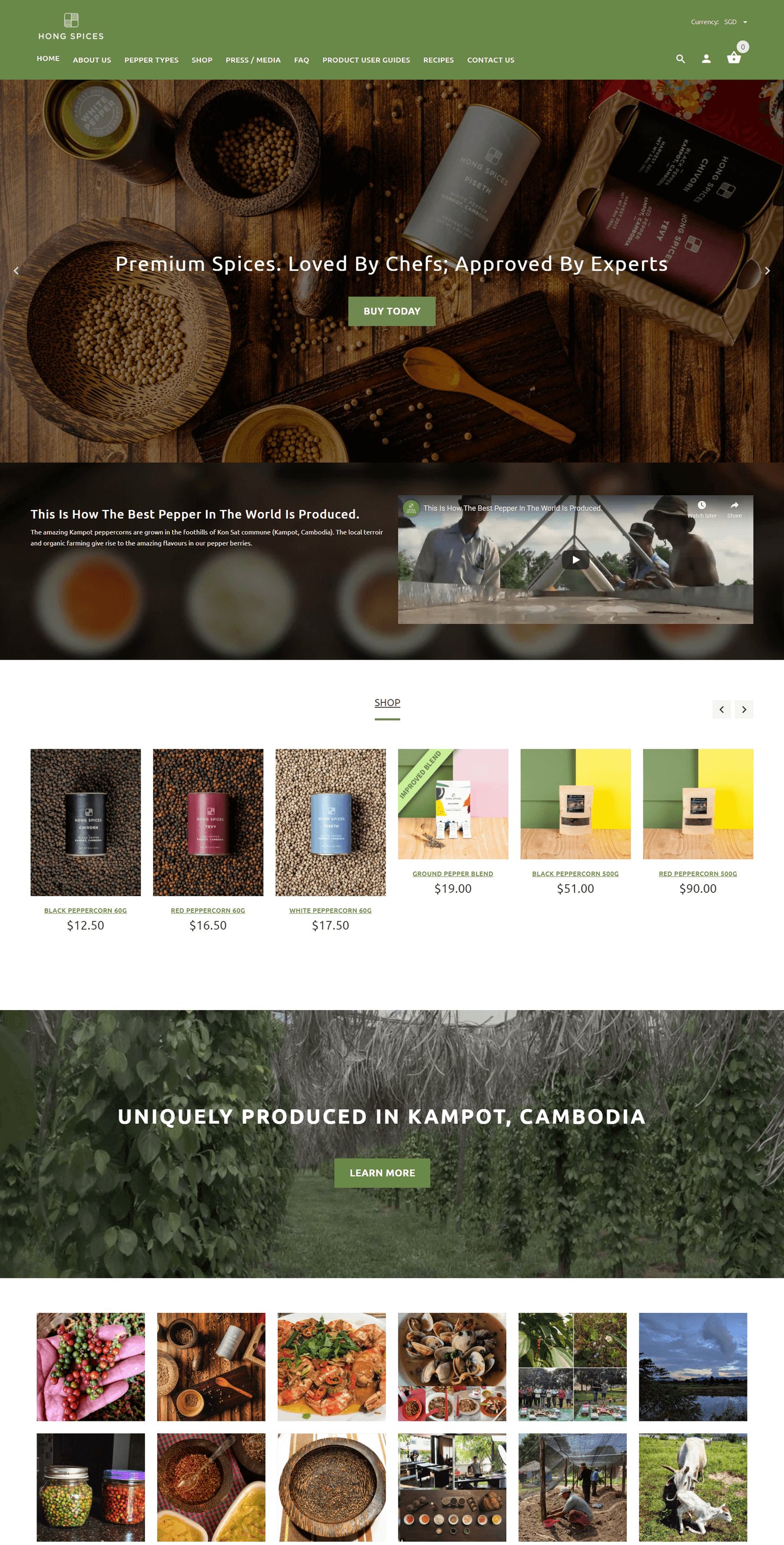 Hong Spices Neo360 Website Design